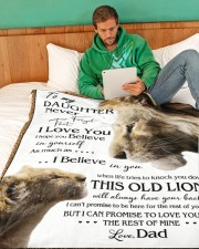 """1 DAY LEFT - GET YOURS NOW TO MY DAUGHTER LIONS Large Fleece Blanket - 60"""" x 80"""" aos-coral-fleece-blanket-60x80-lifestyle-front-06"""