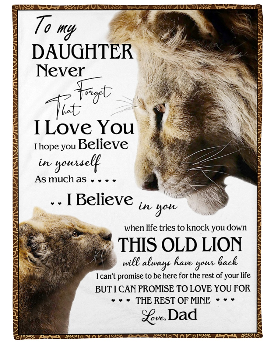 """1 DAY LEFT - GET YOURS NOW TO MY DAUGHTER LIONS Large Fleece Blanket - 60"""" x 80"""""""