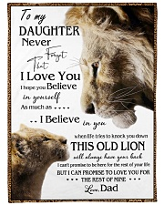 """1 DAY LEFT - GET YOURS NOW TO MY DAUGHTER LIONS Large Fleece Blanket - 60"""" x 80"""" front"""