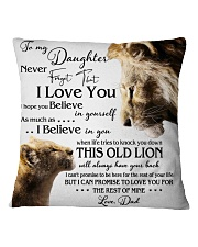 1 DAY LEFT - GET YOURS NOW TO MY DAUGHTER LIONS Square Pillowcase thumbnail