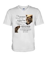 1 DAY LEFT - TO MY GRANDSON FROM GRANDPA BEARS V-Neck T-Shirt thumbnail