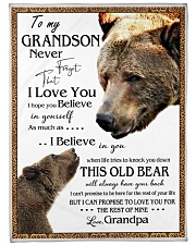 """1 DAY LEFT - TO MY GRANDSON FROM GRANDPA BEARS Large Fleece Blanket - 60"""" x 80"""" front"""