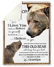 """1 DAY LEFT - TO MY GRANDSON FROM GRANDPA BEARS Large Sherpa Fleece Blanket - 60"""" x 80"""" thumbnail"""