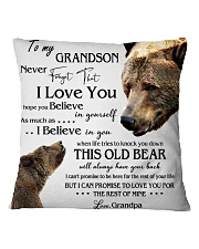1 DAY LEFT - TO MY GRANDSON FROM GRANDPA BEARS Square Pillowcase thumbnail