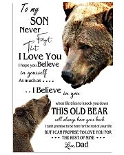 1 DAY LEFT - TO SON FROM DAD BEARS 11x17 Poster thumbnail