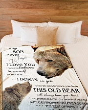 "1 DAY LEFT - TO SON FROM DAD BEARS Large Fleece Blanket - 60"" x 80"" aos-coral-fleece-blanket-60x80-lifestyle-front-02"