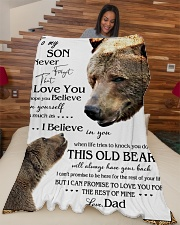 "1 DAY LEFT - TO SON FROM DAD BEARS Large Fleece Blanket - 60"" x 80"" aos-coral-fleece-blanket-60x80-lifestyle-front-04"