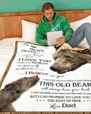 "1 DAY LEFT - TO SON FROM DAD BEARS Large Fleece Blanket - 60"" x 80"" aos-coral-fleece-blanket-60x80-lifestyle-front-06"