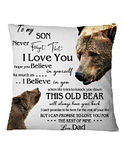 1 DAY LEFT - TO SON FROM DAD BEARS Square Pillowcase thumbnail
