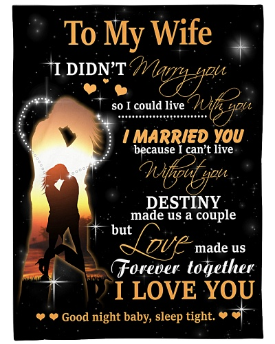To My Wife BFG-BLK366