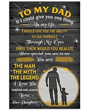 TO MY DAD POSTER 16x24 Poster front
