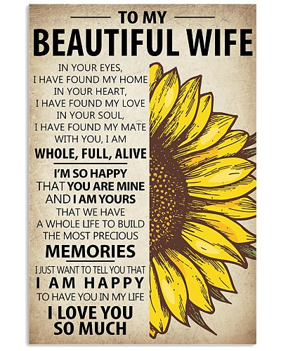To My Wife Sunflower