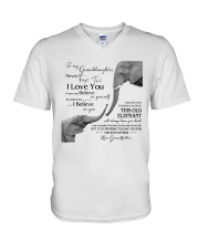 1 DAY LEFT - TO MY GRANDDAUGHTER ELEPHENTS V-Neck T-Shirt thumbnail