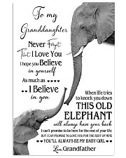 1 DAY LEFT - TO MY GRANDDAUGHTER ELEPHENTS 11x17 Poster thumbnail