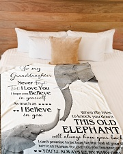 """1 DAY LEFT - TO MY GRANDDAUGHTER ELEPHENTS Large Fleece Blanket - 60"""" x 80"""" aos-coral-fleece-blanket-60x80-lifestyle-front-02"""