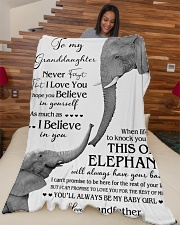 """1 DAY LEFT - TO MY GRANDDAUGHTER ELEPHENTS Large Fleece Blanket - 60"""" x 80"""" aos-coral-fleece-blanket-60x80-lifestyle-front-04"""