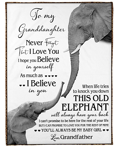 1 DAY LEFT - TO MY GRANDDAUGHTER ELEPHENTS