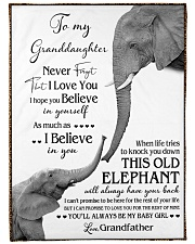 """1 DAY LEFT - TO MY GRANDDAUGHTER ELEPHENTS Large Fleece Blanket - 60"""" x 80"""" front"""