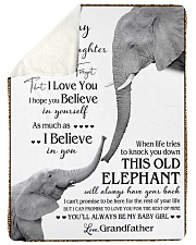 """1 DAY LEFT - TO MY GRANDDAUGHTER ELEPHENTS Large Sherpa Fleece Blanket - 60"""" x 80"""" thumbnail"""