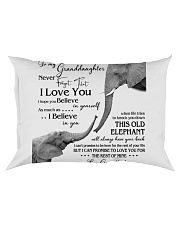1 DAY LEFT - TO MY GRANDDAUGHTER ELEPHENTS Rectangular Pillowcase thumbnail