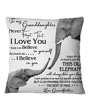1 DAY LEFT - TO MY GRANDDAUGHTER ELEPHENTS Square Pillowcase thumbnail