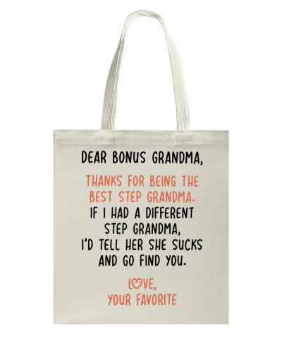 Thanks For Being The Best Step Grandma