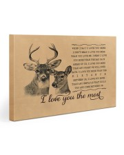 I Love You The Most Deer Couple 30x20 Gallery Wrapped Canvas Prints front