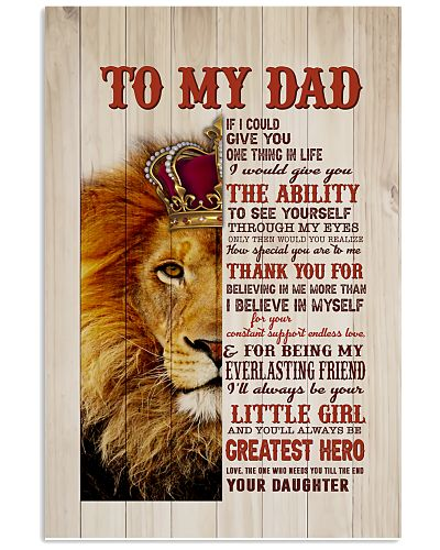 TO MY DAD I'LL ALWAYS BE YOUR LITTLE GIRL POSTER