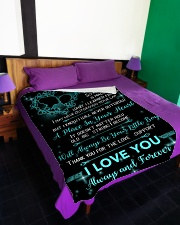 "TO MY MOM Blanket 14448126 Large Fleece Blanket - 60"" x 80"" aos-coral-fleece-blanket-60x80-lifestyle-front-01"