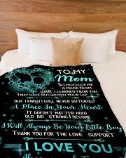 "TO MY MOM Blanket 14448126 Large Fleece Blanket - 60"" x 80"" aos-coral-fleece-blanket-60x80-lifestyle-front-02"