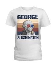 US DRINK GEOGRE SLOSHINGTON Ladies T-Shirt thumbnail