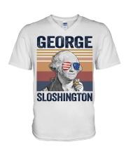 US DRINK GEOGRE SLOSHINGTON V-Neck T-Shirt thumbnail
