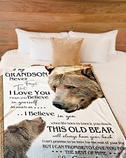 "1 DAY LEFT - TO MY GRANDSON FROM GRANDMA BEARS Large Fleece Blanket - 60"" x 80"" aos-coral-fleece-blanket-60x80-lifestyle-front-02"