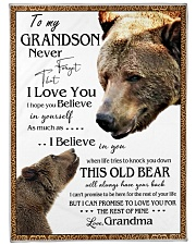 "1 DAY LEFT - TO MY GRANDSON FROM GRANDMA BEARS Large Fleece Blanket - 60"" x 80"" front"