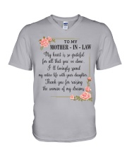 mother in law woman V-Neck T-Shirt front