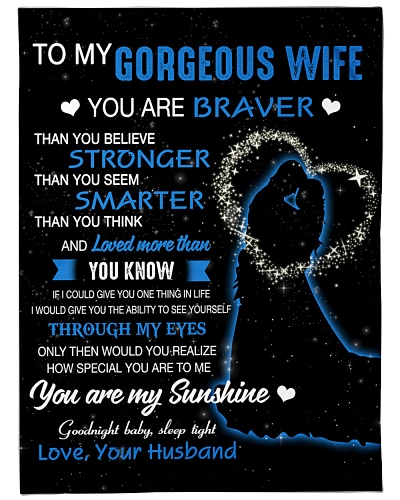 To My Gorgeous Wife BFG-BLK430