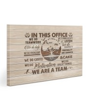 In this office We do teamwork 30x20 Gallery Wrapped Canvas Prints front