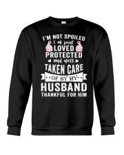 HUSBAND - THANKFUL FOR HIM Crewneck Sweatshirt thumbnail