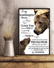 1 DAY LEFT - TO MY GRANDDAUGHTER FROM GRANDMA BEAR 11x17 Poster lifestyle-poster-3