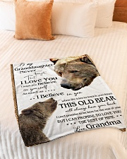 """1 DAY LEFT - TO MY GRANDDAUGHTER FROM GRANDMA BEAR Small Fleece Blanket - 30"""" x 40"""" aos-coral-fleece-blanket-30x40-lifestyle-front-01"""
