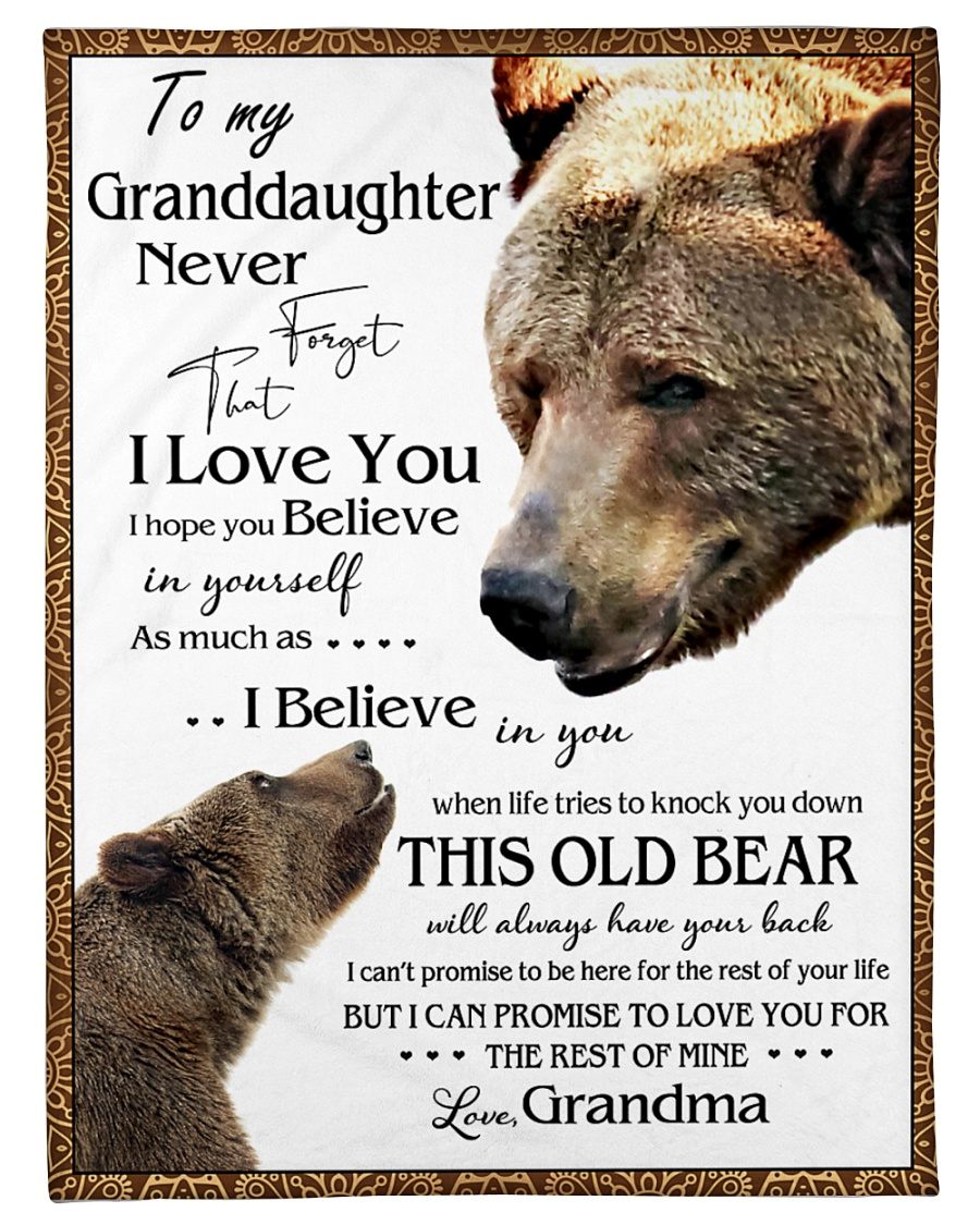 "1 DAY LEFT - TO MY GRANDDAUGHTER FROM GRANDMA BEAR Small Fleece Blanket - 30"" x 40"""