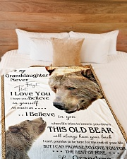 """1 DAY LEFT - TO MY GRANDDAUGHTER FROM GRANDMA BEAR Large Fleece Blanket - 60"""" x 80"""" aos-coral-fleece-blanket-60x80-lifestyle-front-02"""