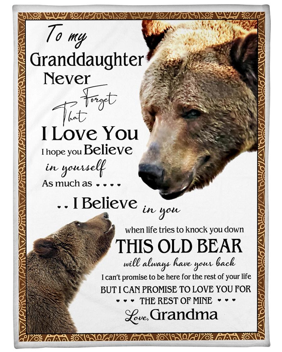 "1 DAY LEFT - TO MY GRANDDAUGHTER FROM GRANDMA BEAR Large Fleece Blanket - 60"" x 80"""
