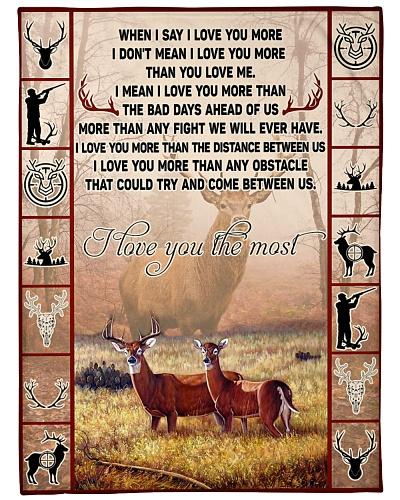 I love you the most deer couple BFG-BLK423