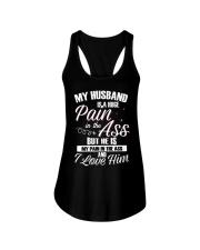 My Husband Is A Huge Pain Ladies Flowy Tank thumbnail