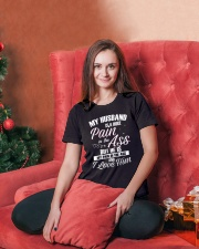 My Husband Is A Huge Pain Ladies T-Shirt lifestyle-holiday-womenscrewneck-front-2