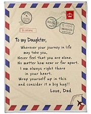 """TO DAUGHTER MESSAGE BLANKET FROM FATHER Large Fleece Blanket - 60"""" x 80"""" front"""