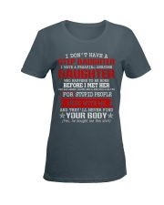 I Don't Have A Stepdaughter Ladies T-Shirt women-premium-crewneck-shirt-front