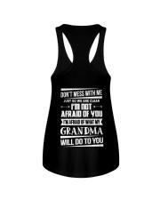 Don't mess with me grandma Ladies Flowy Tank thumbnail