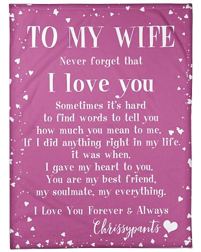 To My Wife custom